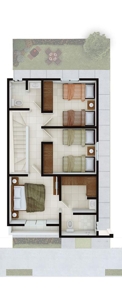 Casas en venta en Apodaca - Modelo Castilla lV-7 Planta Alta