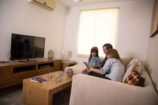Foto de estancia familiar de casa en venta modelo Provenza en Residencial Capellanía, Apodaca, Nuevo León.