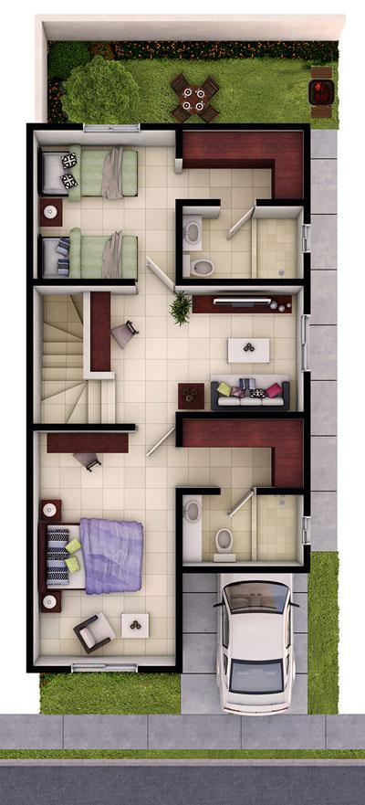 Foto de planta alta de casa en venta modelo Provenza en Residencial Capellanía, Apodaca, Nuevo León.