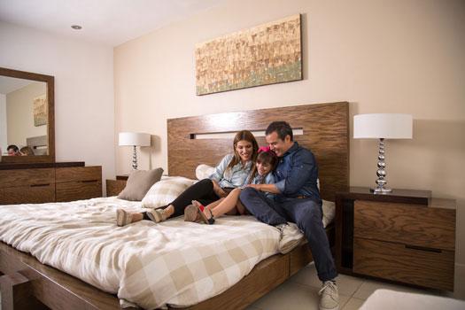 Foto de recámara principal de casa en venta modelo Provenza en Residencial Capellanía, Apodaca, Nuevo León.